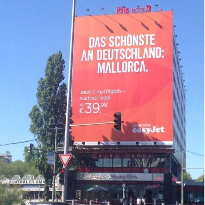 """easyJet """"anexiona"""" Mallorca a Alemania en una campaña publicitaria"""