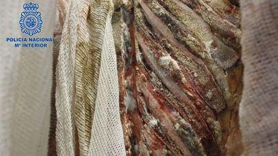 Moho y carne podrida entre los 2.000 kilos incautados en la redada de Son Bugadelles