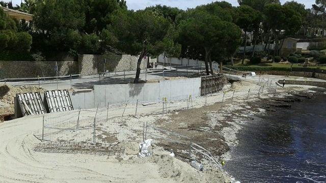 El GOB pide la demolición y retirada de 'las obras ilegales' en la cala de Portals