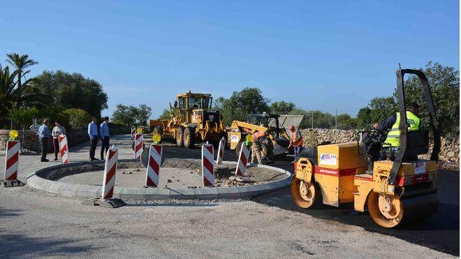 Nueva rotonda en Son Moja para mayor seguridad en Santanyí