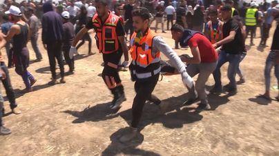 Aumenta a 59 los palestinos muertos en las protestas en Gaza