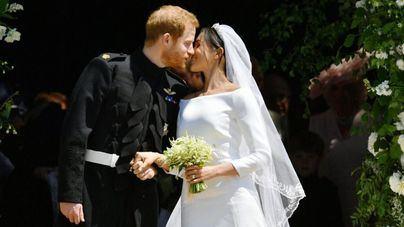 Los ciudadanos británicos se vuelcan en la boda del príncipe Harry con la actriz Meghan Markle