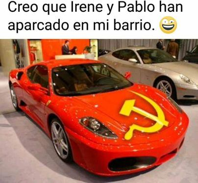 La noticia falsa del viral: Vecinos aseguran que Pablo Iglesias se pasea en un Ferrari por Galapagar
