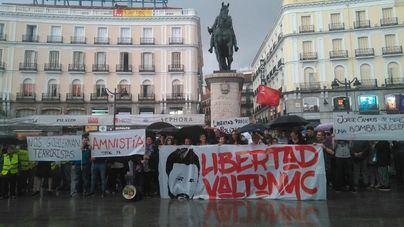 Concentración en la Puerta del Sol en apoyo a Valtonyc
