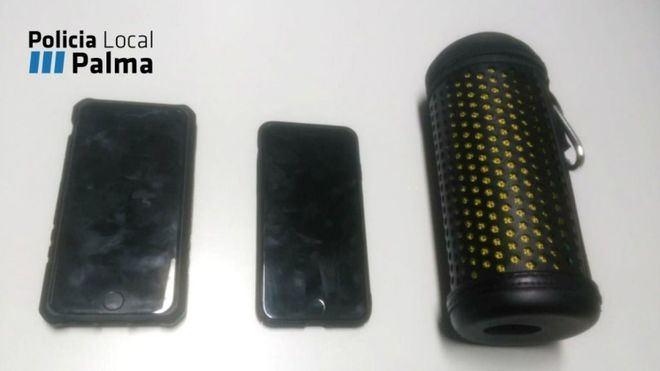 Rastrean dos móviles robados y cazan al ladrón en Palma