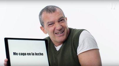 """Antonio Banderas explica en inglés el significado de """"me cago en la leche"""""""