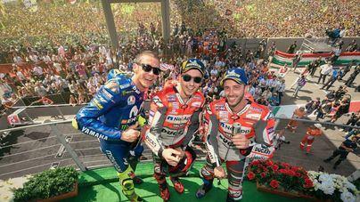 Lorenzo logra su primer gran premio con Ducati