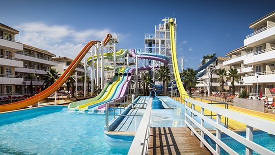 Imagen del parque acuático del hotel