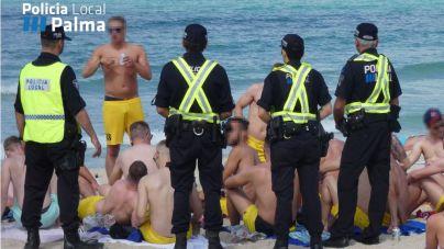 La Policía Local pone 51 multas por botellón en un operativo en Playa de Palma este viernes