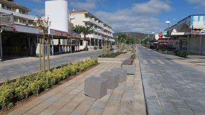 Finalizan las obras de remodelación de la calle Galió de Magaluf