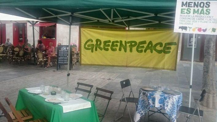 Greenpeace propone a los palmesanos que reduzcan el consumo de carne