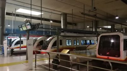 El número de usuarios de metro de Palma se dispara un 40 por ciento en un mes
