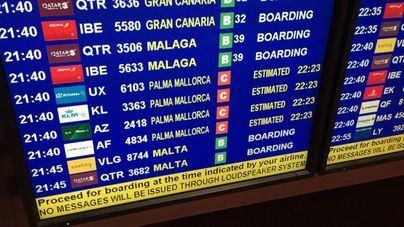 Medio centenar cancelaciones en el Aeropuerto de Palma por la huelga de controladores franceses