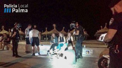 Botellón, desorden y prostitución copan las 183 actas de la Policía en Platja de Palma en dos noches