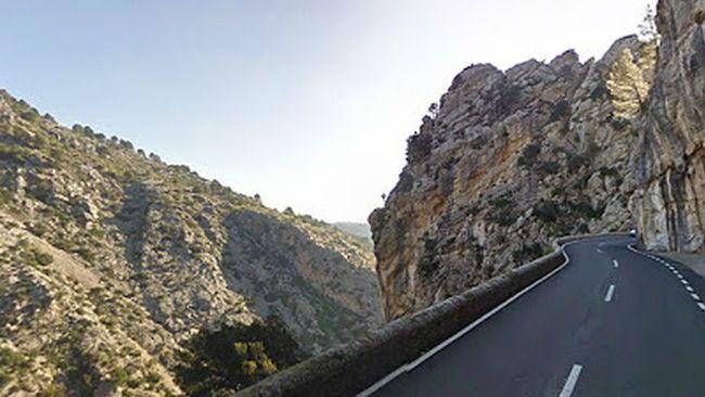 Imagen del Salt de la Bella Dona, en la carretera de Lluc a Pollença