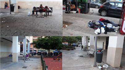 Vecinos de Camp Redó, indignados por la suciedad y el incivismo en la calle