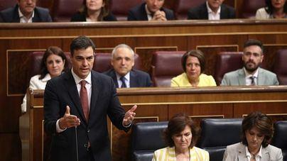 El presidente del Gobierno, Pedro Sánchez, en el Congreso este miércoles