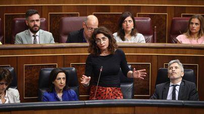 La ministra María Jesús Montero, este miércoles en el Congreso