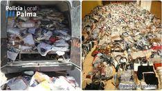 Sorprendido llenando una furgoneta con objetos falsificados
