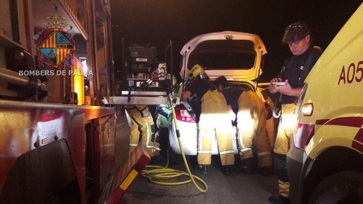 Tres heridos, entre ellos un niño, en un accidente en Son Ferriol