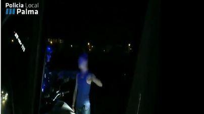 Vagando borracho y a oscuras en plena noche por la vía de cintura