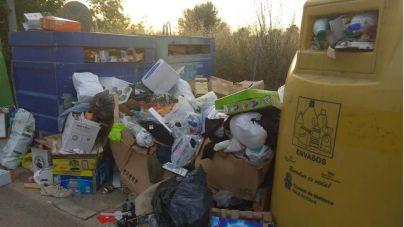 Los contenedores de reciclaje de Llucmajor, a rebosar