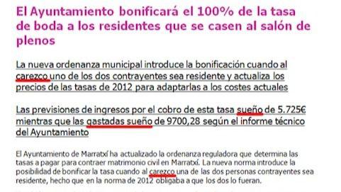 El traductor automático juega una mala pasada al Ayuntamiento de Marratxí