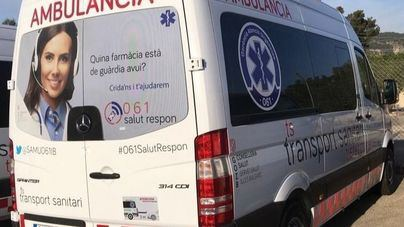Herida una joven de 30 años en Ibiza tras chocar un coche y una moto