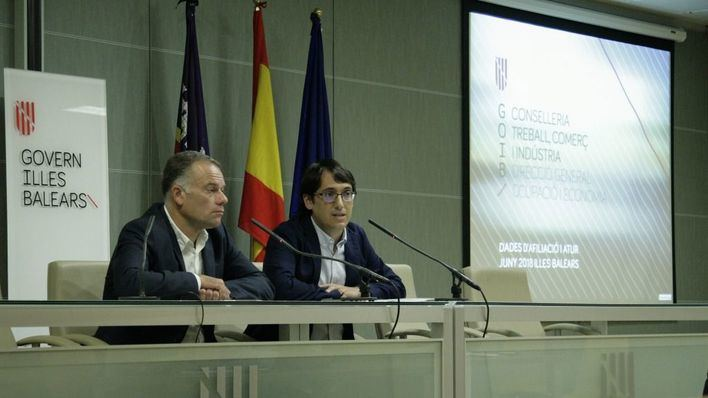 El Govern destaca que Balears alcanza un máximo histórico de afiliación y que el paro es menor que en 2008