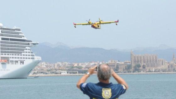 Activado el procedimiento de amerizaje de aviones anfibios en el puerto de Palma