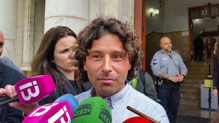 Jaume Garau a su salida de los juzgados tras declarar