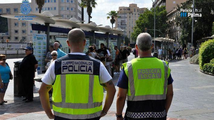 Las patrullas conjuntas de Policía Nacional y Local detienen a 15 personas en Palma por hurtos