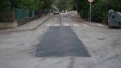 Imagen de una de las calles ya asfaltadas