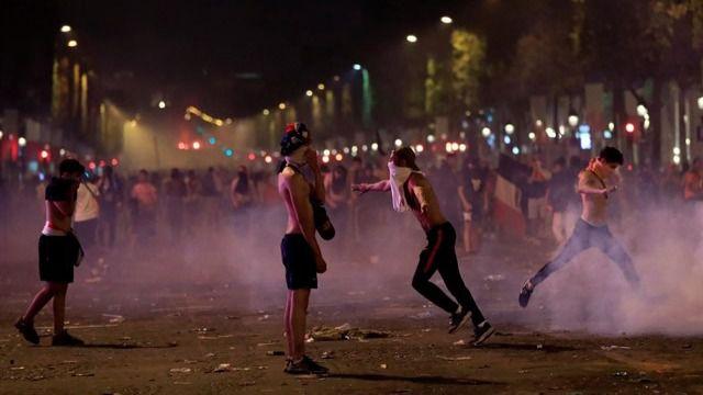 Disturbios en pleno centro de París tras la victoria de Francia