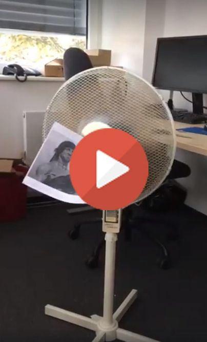 Llega la ventilavisión: disfrute al fresco las películas de Rambo con su ventilador