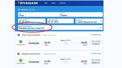 Ryanair aplica el descuento del 75 por ciento con un día de retraso