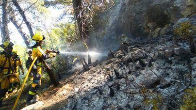 Estabilizado el incendio de Cala Estellencs tras arder 2,5 hectáreas