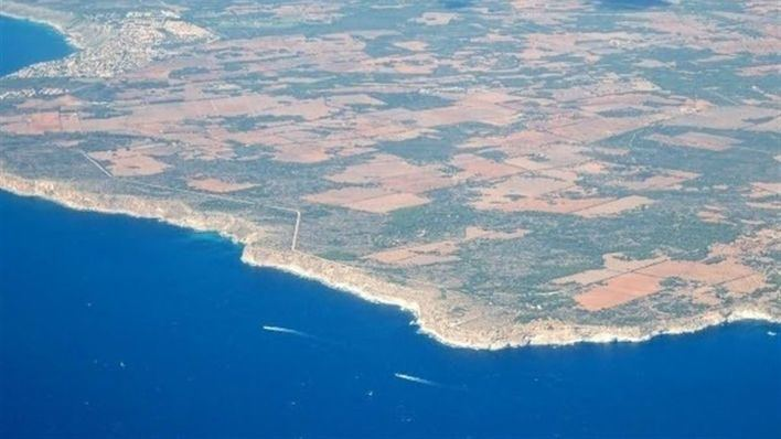Vista aérea de la costa de Llucmajor