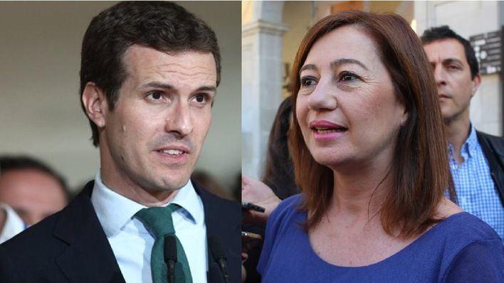 """Armengol """"espera pocas cosas"""" del PP porque con Pablo Casado """"ha ganado la extrema derecha"""""""