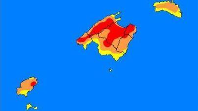 Alerta extrema por riesgo de incendios forestales en Mallorca e Ibiza