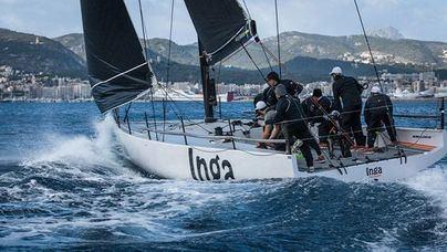 El 'Sikon', con tripulantes españoles, gran rival del 'Inga' en los Melges 40