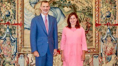 El Rey arranca la agenda en Mallorca con Armengol, Picornell, Noguera y Ensenyat