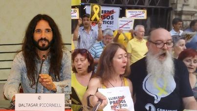 """Enfado en el independentismo por el plantón de Picornell en el acto pro """"presos políticos"""" en Cort"""