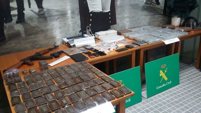 La Guardia Civil cierra la 'Operación Titanum' con 14 encarcelados y 17,5 kilos de cocaína incautados