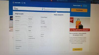 Problemas en la web de Ryanair que imposibilitan la reserva y aplicación del 75 por ciento de descuento