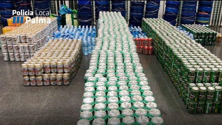Decomisan 2.772 cervezas a vendedores ambulantes en Playa de Palma