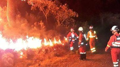 El fuego de Llutxent en Valencia calcina más de mil hectáreas