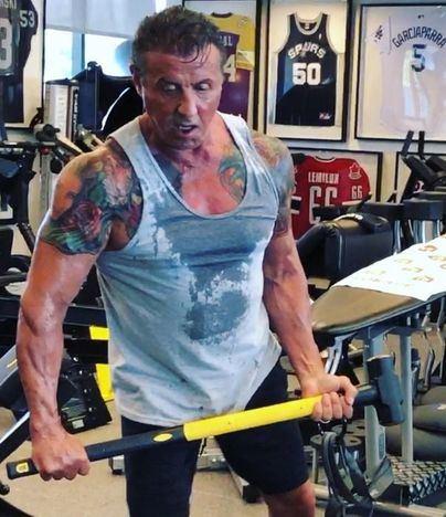 Stallone suda la 'gota gorda' a los 72 años para rodar Rambo V
