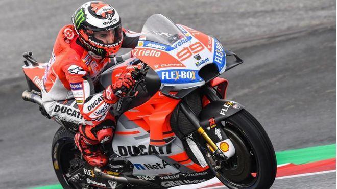 Lorenzo, tercero en los entrenamientos del Gran Premio de Austria
