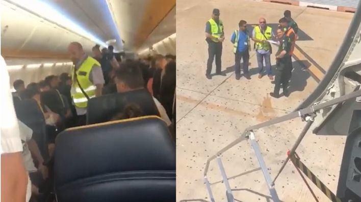 imágenes captadas por un pasajero del vuelo